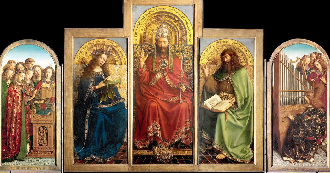 A Master Work the Ghent Altarpiece Reawakens Stroke by Stroke  The New York Times