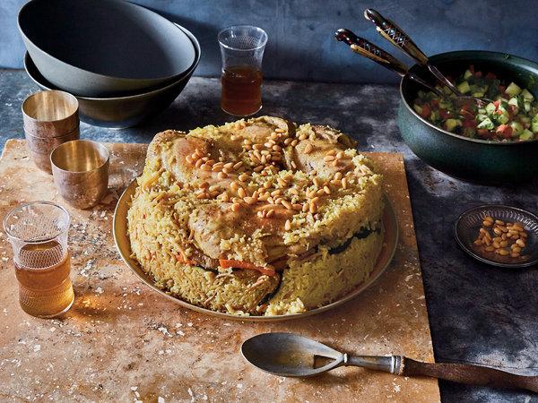 Maglooba - Jordanian gluten free dish