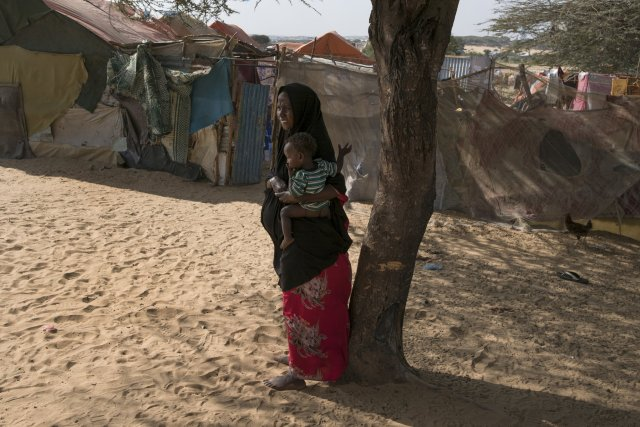 A camp for displaced Somalis a few miles west of Mogadishu. CreditTyler Hicks/The New York Times