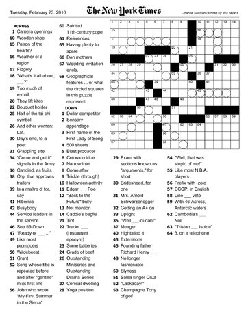 image about Printable Ny Times Crossword Puzzles named Basic fresh York Situations Crossword puzzle Printable Your Surprise