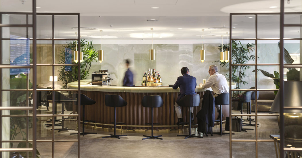 The Airport Lounge Scene What You Get and How to Get In  The New York Times