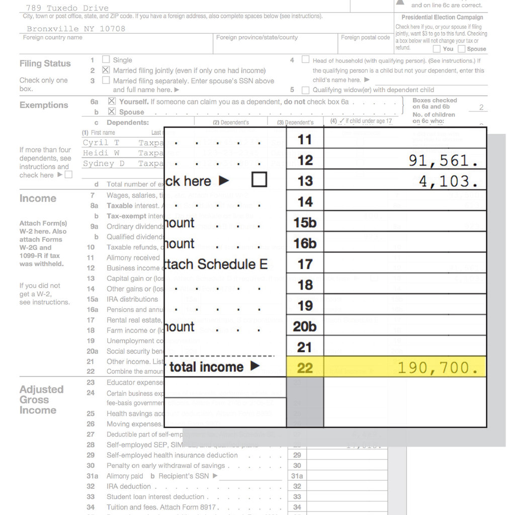 Form Tax Table