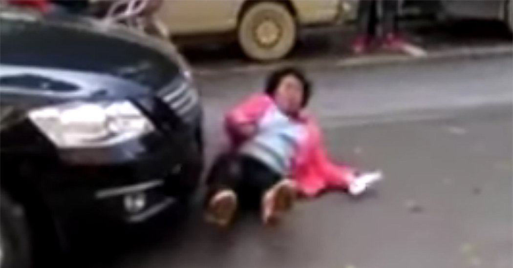 Scammers in China Fake Road Injuries but Cameras Capture the Truth  The New York Times