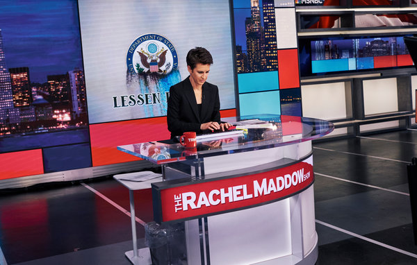 Led By Rachel Maddow Msnbc Surges To Unfamiliar Spot No