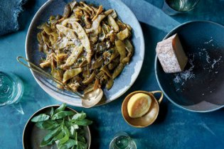Long-cooked Romano beans.