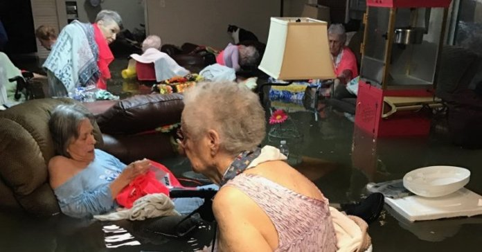 Behind the Photo of the Older Women in Waist-High Water in Texas