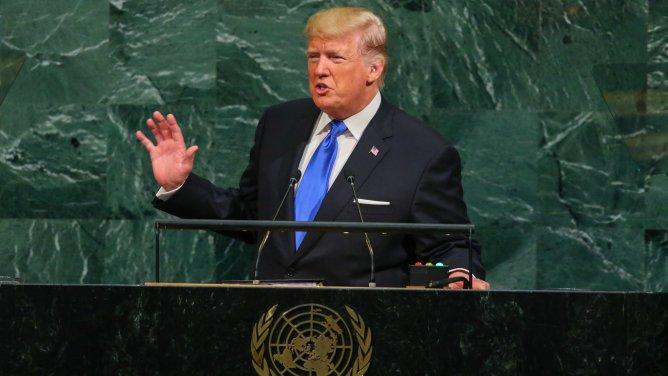 Image result for Pres. Trump delivers speech at un
