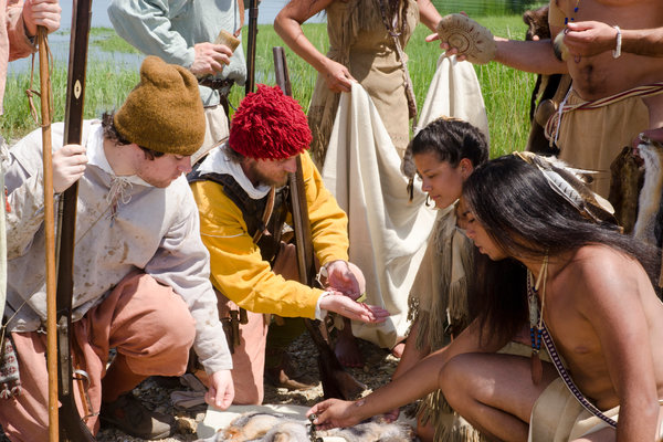 Members of Plymouth 400, a nonprofit that contends that the Thanksgiving story began in 1614 when Tisquantum, known as Squanto, and other native people were captured, taken to Europe and sold as slaves.