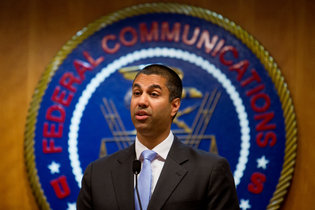 Ajit Pai, the Federal Communications Commission chairman. Credit Eric Thayer for The New York Times