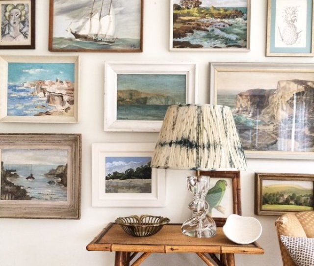 Gallery Walls Can Be Hung Around Windows Around Doors She Said Even Around Cabinets In A Kitchen Creditetalage