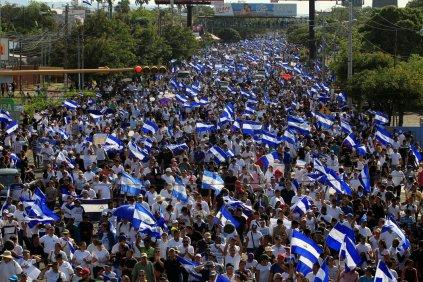 Resultado de imagen para foto de manifestaciones contra ortega en nicaragua
