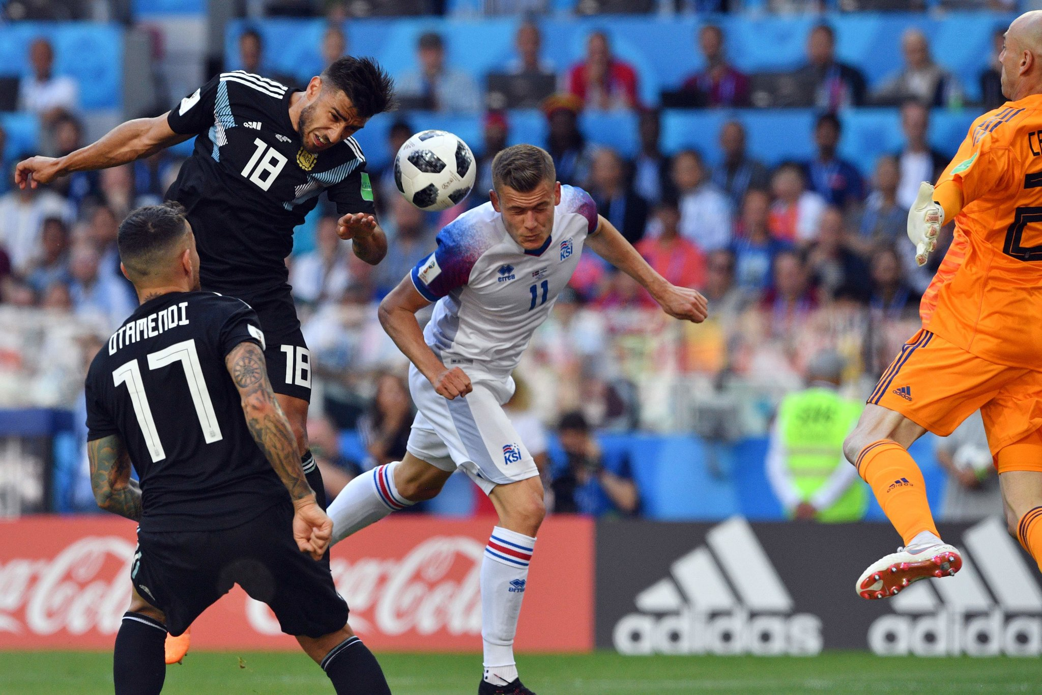 Alfred Finnbogason In Action In Iceland's First-Ever World Cup Game,  Against Argentina On Saturday. Finnbogason Scored Iceland's Only Goal In A  1-1 Tie.