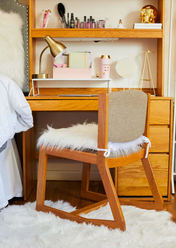 dorm chair covers etsy stand alone swing how to dress up a room the new york times but right accessories like desk lamp seat cushion and rug will make it feel more home creditwinnie au for