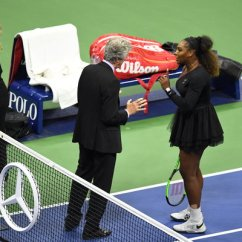 Tennis Umpire Chair Hire Installing Rail Serena Williams Accuses Official Of Sexism In U S Open Loss To Image