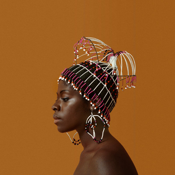 Untitled (Sikolo Brathwaite with Headpiece designed by Carolee Prince), 1968.