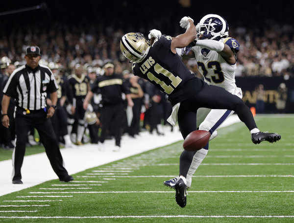 Missed Call Dooms Saints Thrills Rams and Pains New Orleans  The New York Times