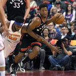Raptors 128, Knicks 92: Raptors Crush Knicks But Lose Kyle Lowry To Ankle Injury