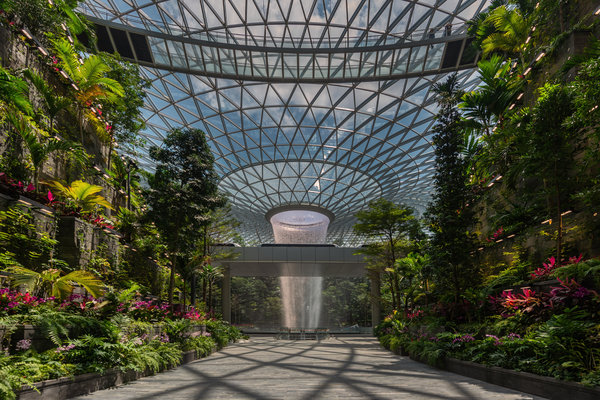 At Singapore S Changi Airport A New Jewel Shines The New