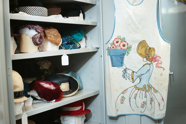 The Smith collection has what may be the largest collection of aprons anywhere.
