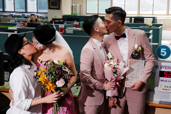 After a Long Fight, Taiwan's Same-Sex Couples Celebrate New ...