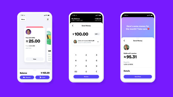A proposed look for a mobile app for handling the new cryptocurrency.