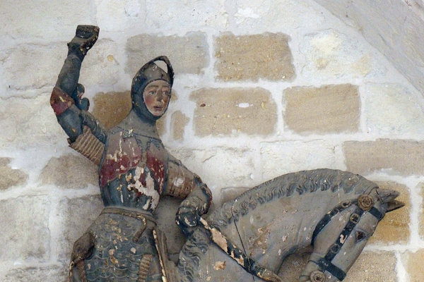 The figure before it was restored.