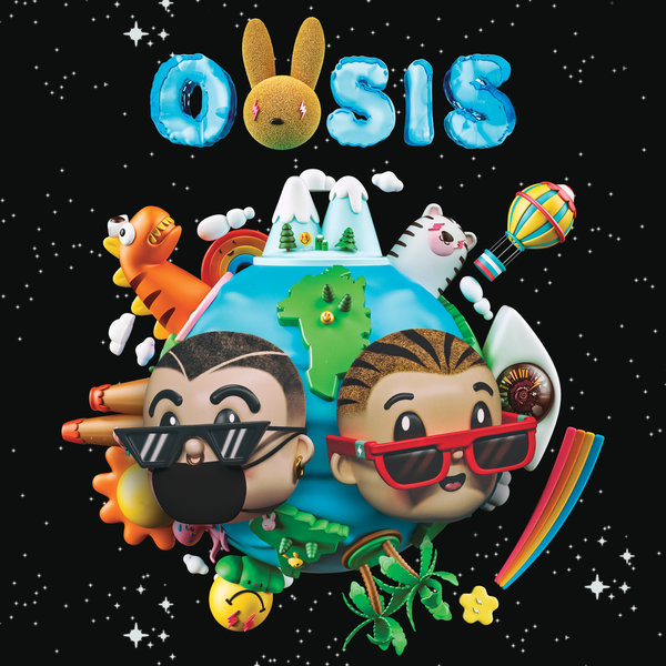 """The two musicians finished """"Oasis"""" in Miami with beats from their go-to producers, Tainy and Sky."""