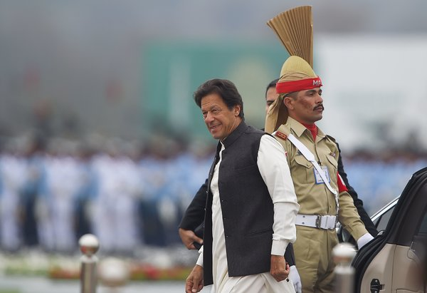 Prime Minister Imran Khan on Pakistan National Day, in March.