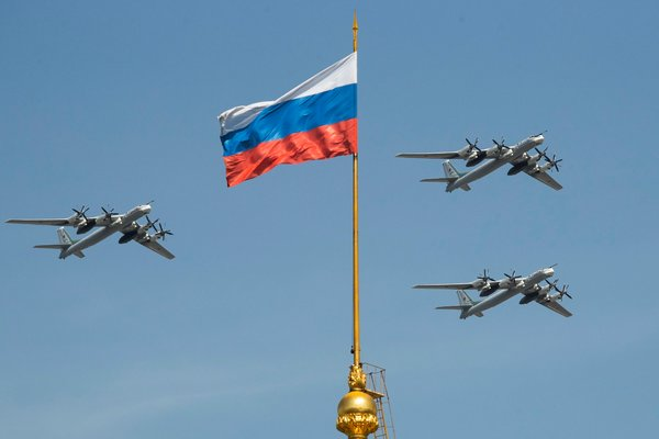 Russian strategic bombers before a Victory Day military parade in Moscow.