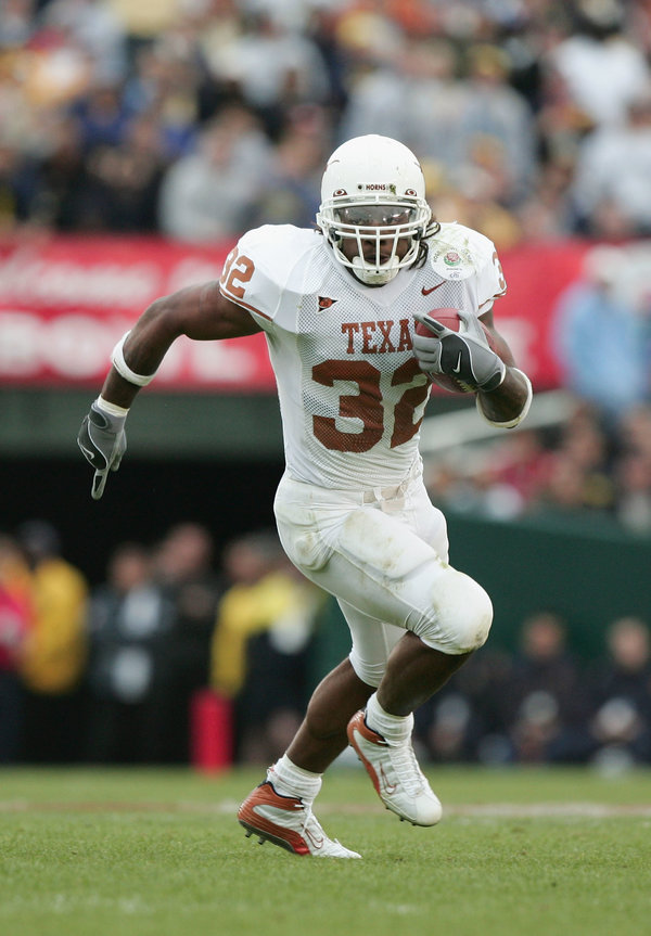 Mr. Benson finished his career at Texas with 5,540 rushing yards, second in the school's history, according to College Football Reference.