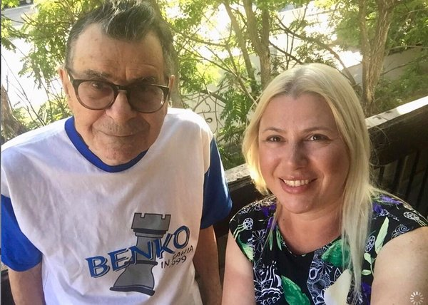 Mr. Benko this month with Susan Polgar, the former Women's world champion. Mr. Benko once tutored Ms. Polgar and her two sisters.