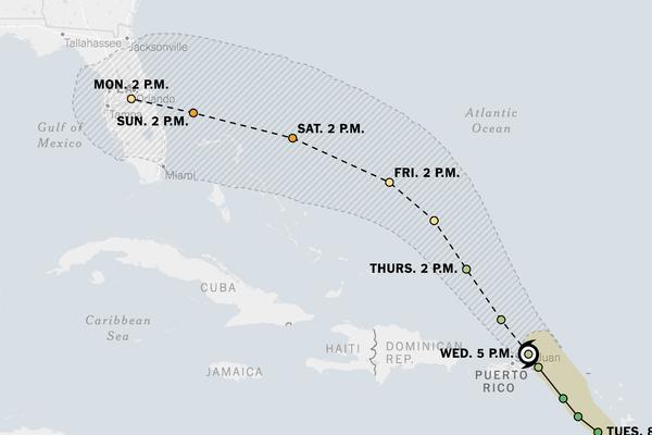 Hurricane Dorian Spares Puerto Rico as Florida Prepares