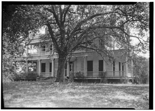 A 1936 photograph of Brandon Hall in Washington, Miss., where Henrietta Wood was enslaved in the 1850s.