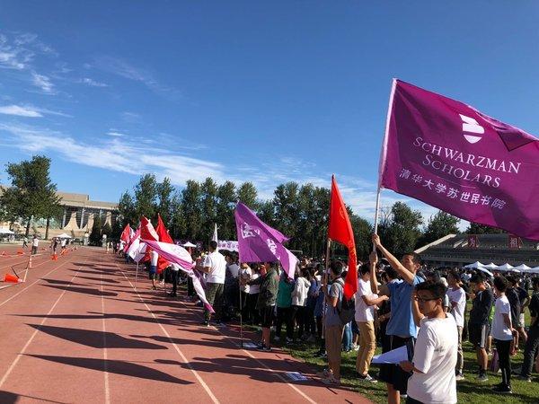 清华大学开学长跑。 Lionel Jin