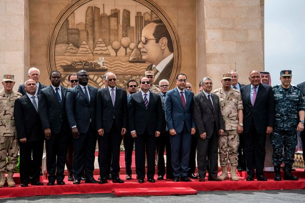 Mr. el-Sisi, center, has cemented his hold on power through harsh repression that has silenced critics and curtailed free speech.