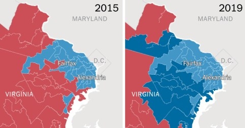 Image result for VA 2019 election red to blue
