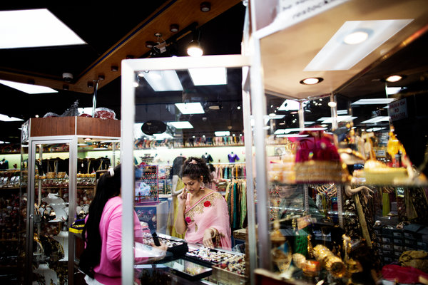 Sarika Johari shopped for jewelry at Sagar Exclusive, a store specializing in Indian clothing and jewelry, in Sunnyvale, Calif.