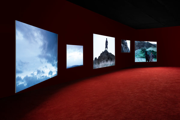 """""""Frederick Douglass: Lessons of the Hour,"""" by the British filmmaker Isaac Julien, is on view through Dec. 15."""