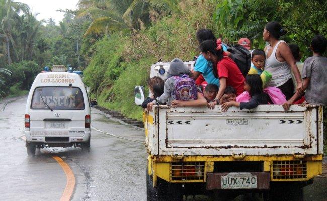 Thousands Evacuated As Typhoon Kammuri Nears The