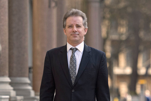 Christopher Steele, the former F.B.I. informant, in London in 2017.