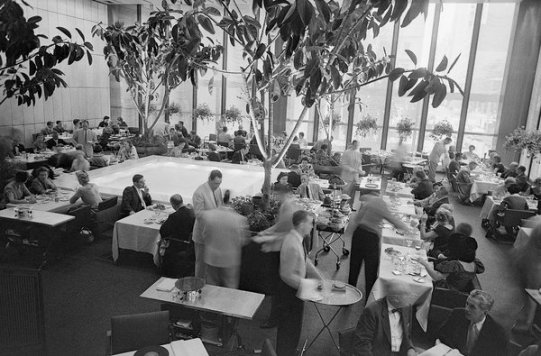 The Four Seasons dining room, in the Seagram Building on Park Avenue in New York, photographed in 1959.