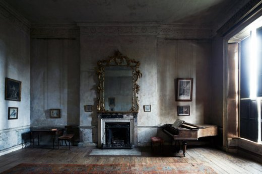 The music room at 12 Henrietta Street in Dublin, photographed in 2018.