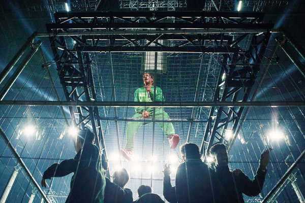 ASAP Rocky performing at the Ericsson Globe in Stockholm on Wednesday night.
