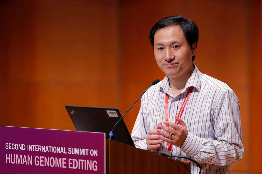 基因編輯嬰兒風波:賀建奎因「非法行醫」獲刑三年 - 紐約時報中文網