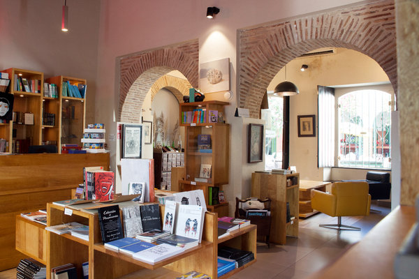 The bookstore at Mamey, a cultural center in a colonial building on Calle Mercedes.