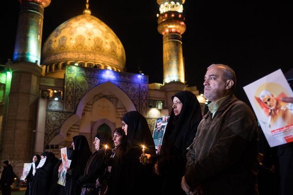 A candlelight vigil honoring Maj. Gen. Qassim Suleimani in Tehran on Tuesday.