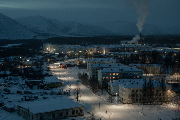 The gold-mining town of Yagodnoye, about 300 miles west of Magadan along the Kolyma Highway.