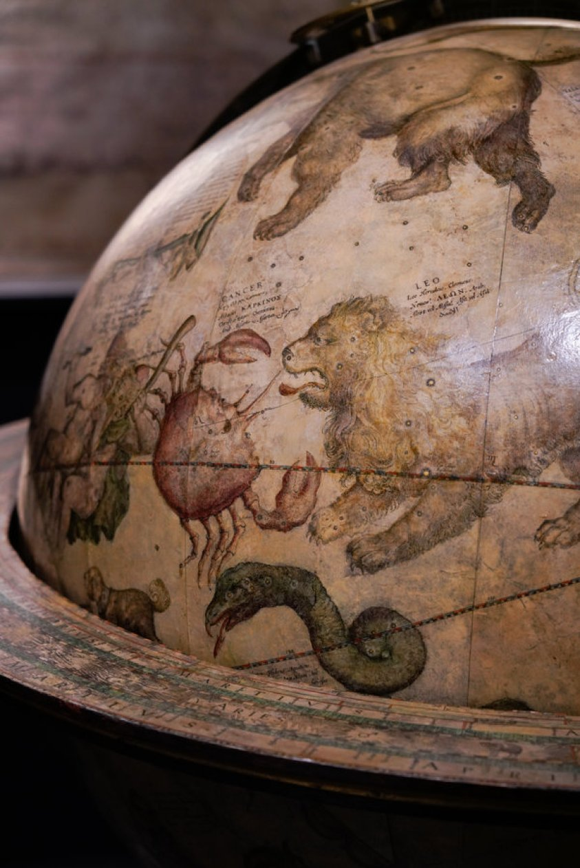 Detail of celestial globe by Willem Blaeu