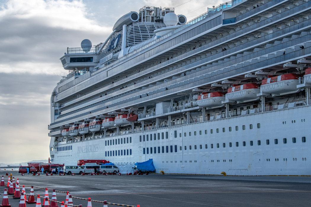 鑽石公主號郵輪上發現了20例冠狀病毒病例。周四,它停靠在日本橫濱,船上乘客正處於隔離。