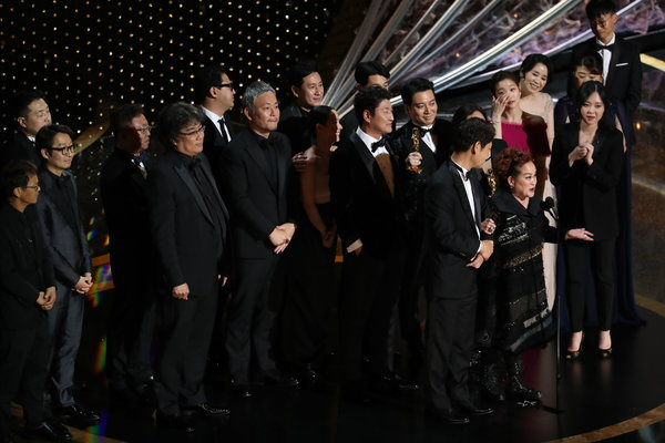 """Parasite"" was named best picture at the 92nd Academy Awards on Sunday."